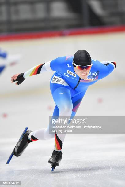 Ole Jeske of Germany performs during the Men 1500 Meter at the ISU ISU Junior World Cup Speed Skating at Max Aicher Arena on November 26 2017 in...