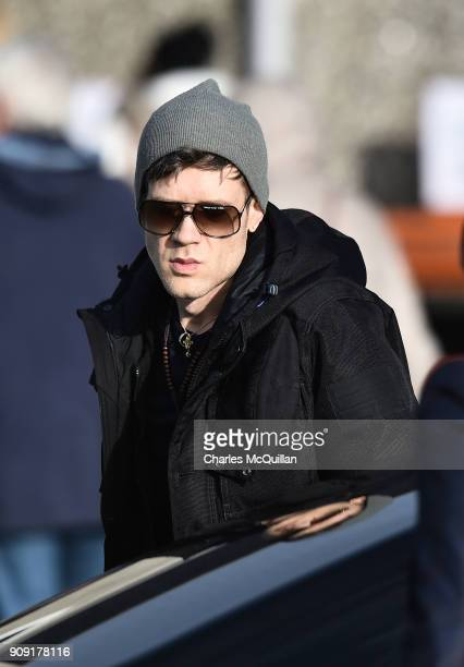 Ole Koretsky attends the funeral of his girlfriend Dolores O'Riordan at St Ailbe's Church Ballybricken on January 23 2018 in Limerick Ireland The...
