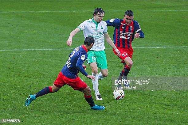 Ole Kristian Selnaes of SaintEtienne during the Ligue 1 match between SM Caen and AS SaintEtienne at Stade Michel D'Ornano on October 23 2016 in Caen...