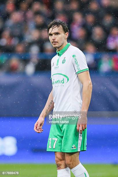 Ole Kristian Selnaes of Saint-Etienne during the Ligue 1 match between SM Caen and AS Saint-Etienne at Stade Michel D'Ornano on October 23, 2016 in...