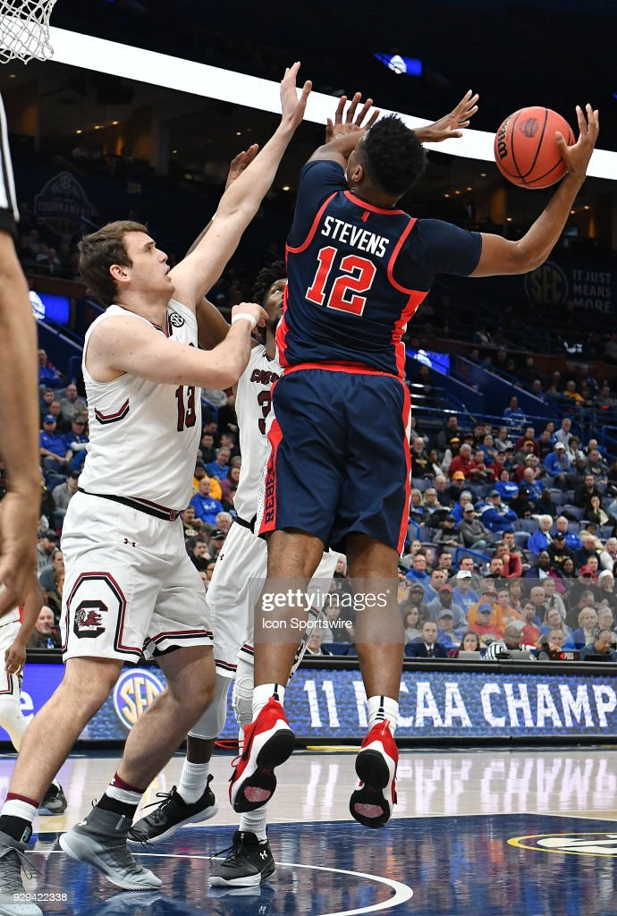 Ole Miss forward Bruce Stevens looks to shoot over South ...