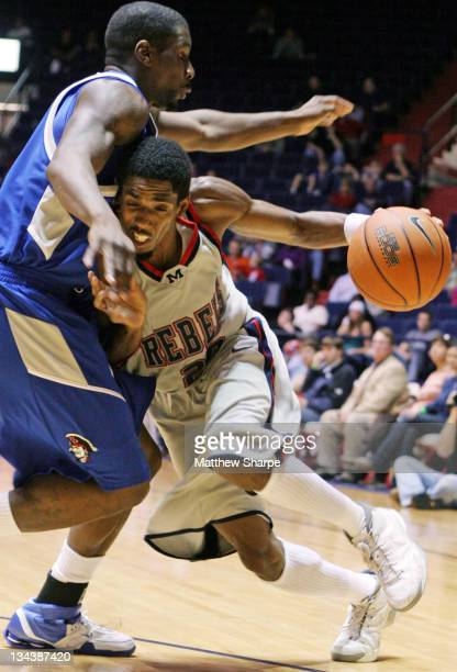Ole Miss guard Bam Doyne tries to drive against New Orleans at the Tad Smith Coliseum in Oxford, Mississippi on November 30, 2006. Ole Miss won 85-77.