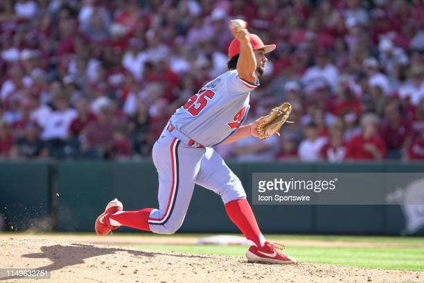 Ole Miss Rebels pitcher Parker Caracci delivers a pitch during Game 3 of the NCAA Super Regional baseball game between the Arkansas Razorbacks and...