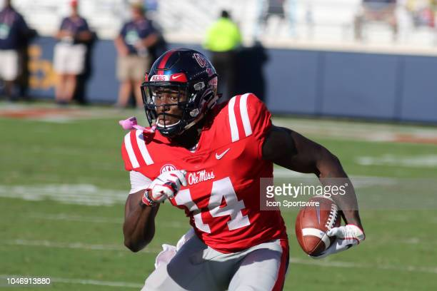 Ole Miss Rebels wide receiver DK Metcalf during the game between Ole Miss Rebels and Louisiana Monroe Warhawks on Saturday October 6 2018 at...
