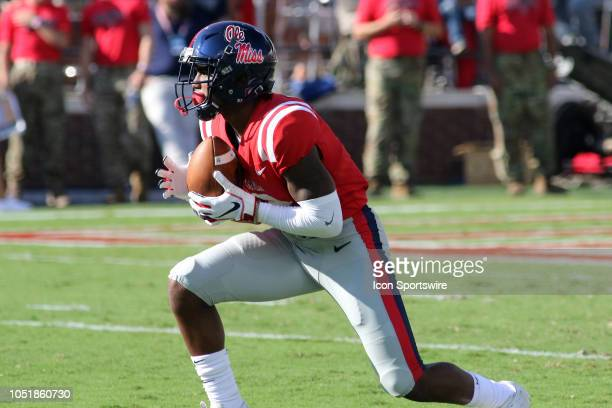 Ole Miss Rebels wide receiver Elijah Moore during the game between Ole Miss Rebels and Louisiana Monroe Warhawks on Saturday October 6 2018 at...