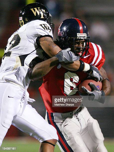 Ole Miss running back BenJarvus Green-Ellis escapes a tackle against Wake Forest at Vaught-Hemingway in Oxford, Miss. On September 23, 2006.