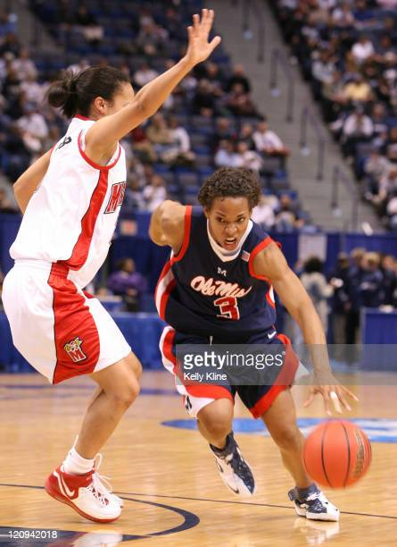 Ole Mississippi Ashley Awkward during the NCAA Tournament at the Hartford Civic Center in Hartford CT on March 20 2007