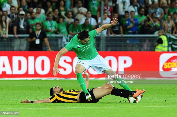 Ole SELNAES of Saint Etienne during the Third Qualifying Round Europa League between Saint Etienne and AEK Athnes at Stade GeoffroyGuichard on July...