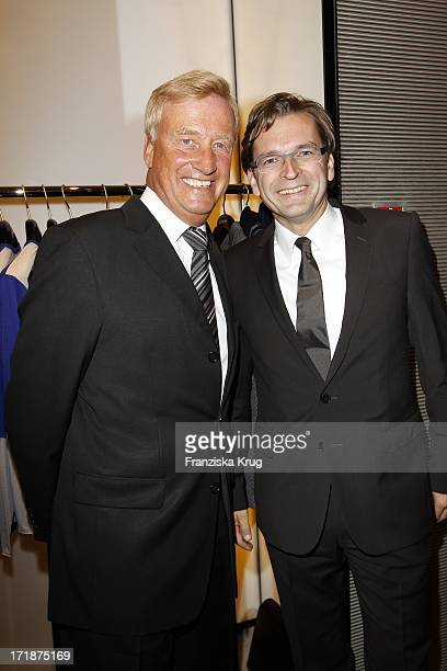 Ole Von Beust And Claus Strunz In The Opening Of Giorgio Armani and Emporio Armani boutiques in the High bleaching in Hamburg