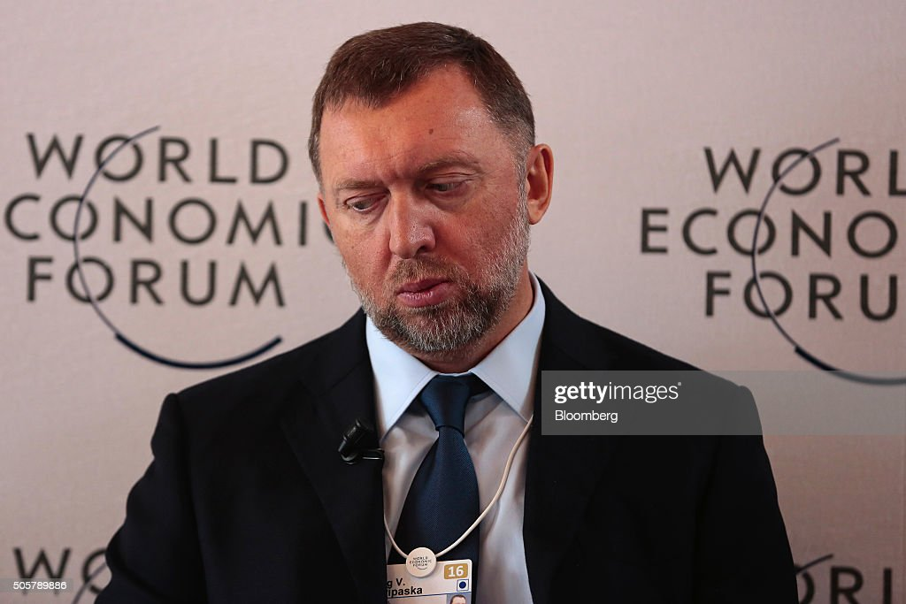 Oleg Deripaska, billionaire and president of United Co. Rusal, listens during a panel session at the World Economic Forum (WEF) in Davos, Switzerland, on Wednesday, Jan. 20, 2016. World leaders, influential executives, bankers and policy makers attend the 46th annual meeting of the World Economic Forum in Davos from Jan. 20 - 23. Photographer: Jason Alden/Bloomberg via Getty Images