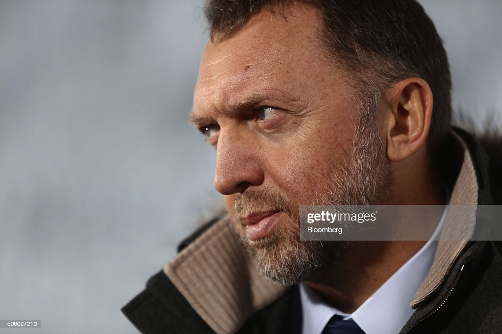 Oleg Deripaska, billionaire and president of United Co. Rusal, looks on during a Bloomberg Television interview at the World Economic Forum (WEF) in Davos, Switzerland, on Wednesday, Jan. 20, 2016. World leaders, influential executives, bankers and policy makers attend the 46th annual meeting of the World Economic Forum in Davos from Jan. 20 - 23. Photographer: Simon Dawson/Bloomberg via Getty Images
