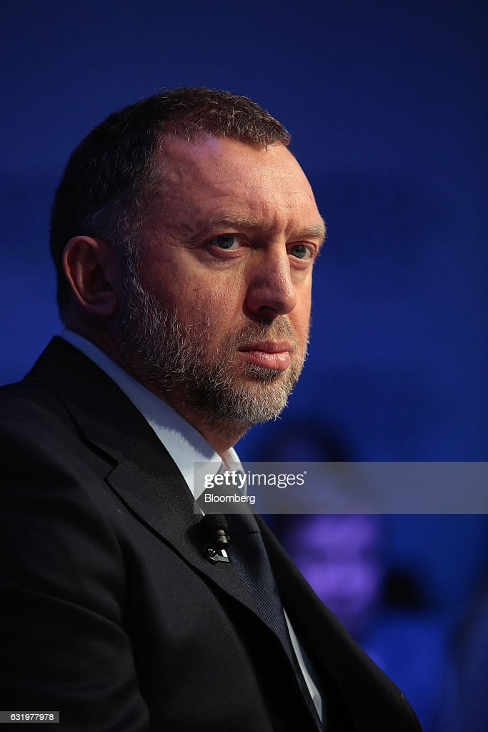 Oleg Deripaska, billionaire and president of United Co. Rusal, looks on during a panel session at the World Economic Forum (WEF) in Davos, Switzerland, on Wednesday, Jan. 18, 2017. World leaders, influential executives, bankers and policy makers attend the 47th annual meeting of the World Economic Forum in Davos from Jan. 17 - 20. Photographer: Jason Alden/Bloomberg via Getty Images