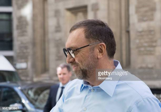 Oleg Deripaska billionaire and president of United Co Rusal Plc arrives to attend the court hearing on MMC Norilsk Nickel PJSC at The Rolls Building...