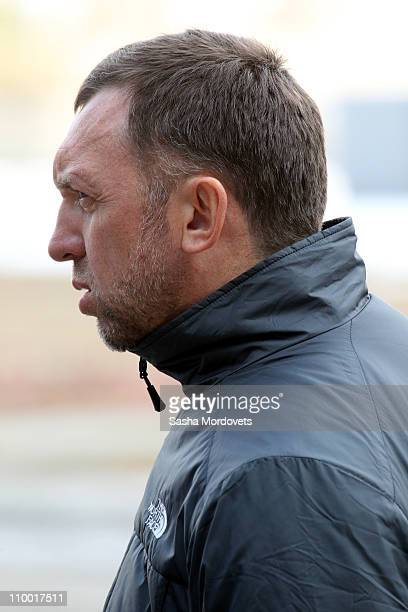 Oleg Deripaska general director of the world's second largest aluminum company RUSAL visits Sayan Aluminum Plant on March 11 2011 in Sayanogorsk in...