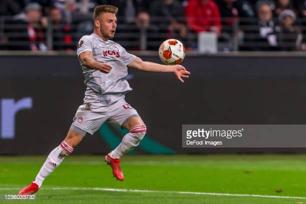 Oleg Reabciuk controls the Ball during the UEFA Europa League group D match between Eintracht Frankfurt and Olympiakos Piräus at Deutsche Bank Park...