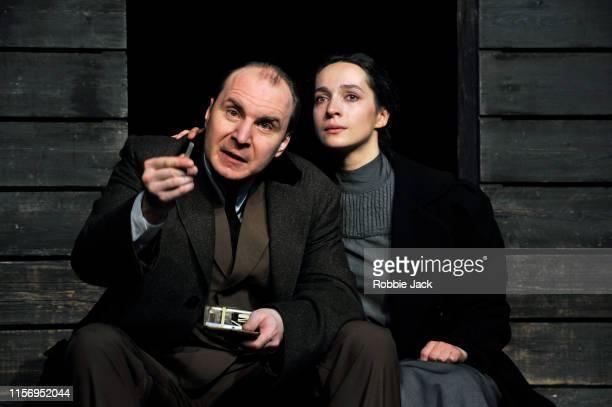 Oleg Ryazantzev as Nicolay Tuzenbach and Ekaterina Tarasova as Irina in The Maly Drama Theatre of St Petersburg's production of Anton Chekhov's Three...