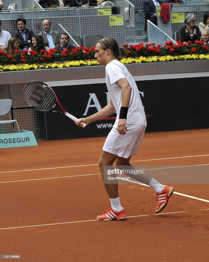 Oleksander Dolgopolov,UKR, in 'Mutua Madrilena Madrid Open' of tennis, 8th May 2010, in 'La Caja Magica'. Madrid, Spain.