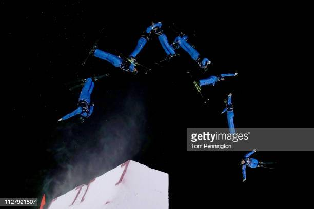 Oleksandr Abramenko of Ukraine competes in the Men's Aerials Final at the FIS Freestyle Ski World Championships on February 06 2019 at Deer Valley...