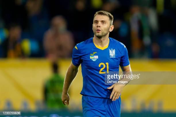 Oleksandr Karavaev of Ukraine looks on during the international friendly match between Ukraine and Northern Ireland at Dnipro-Arena on June 3, 2021...