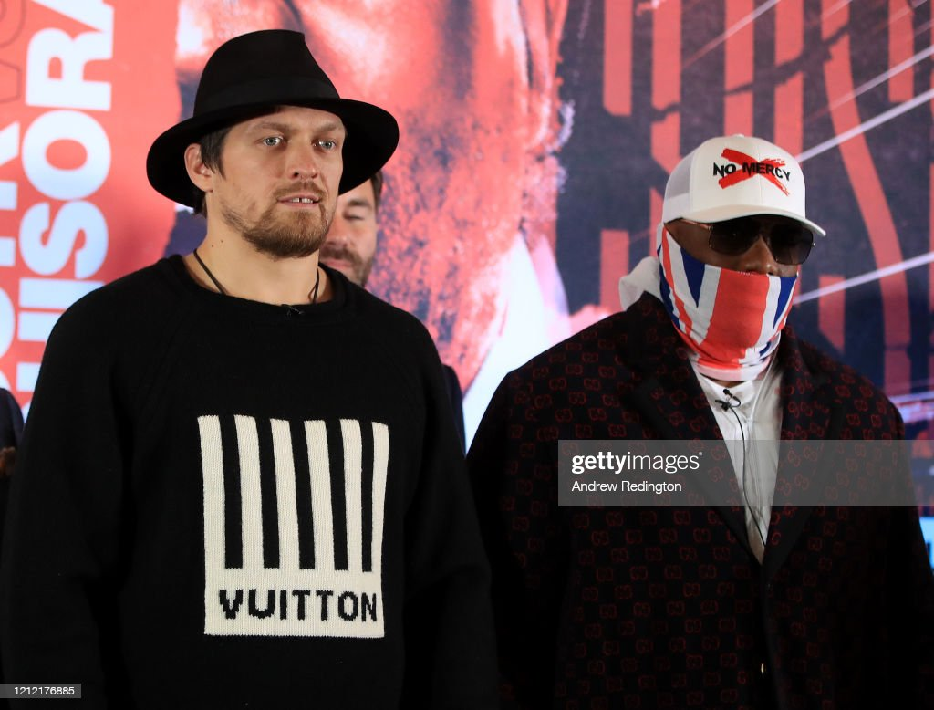 Oleksandr Usyk and Derek Chisora Press Conference : News Photo