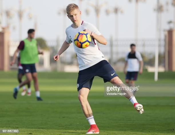 Oleksandr Zinchenko of Manchester City during the Abu Dhabi Warm Weather Training Camp on March 13 2018 in Abu Dhabi United Arab Emirates