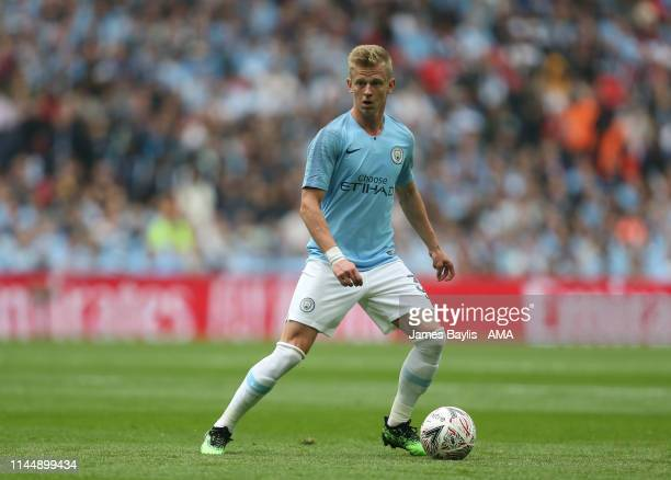 Oleksandr Zinchenko of Manchester City during the FA Cup Final match between Manchester City and Watford at Wembley Stadium on May 18 2019 in London...
