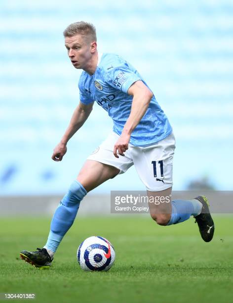 Oleksandr Zinchenko of Manchester City during the Premier League match between Manchester City and West Ham United at Etihad Stadium on February 27,...