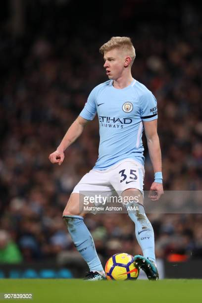 Oleksandr Zinchenko of Manchester City during the Premier League match between Manchester City and Newcastle United at Etihad Stadium on January 20...