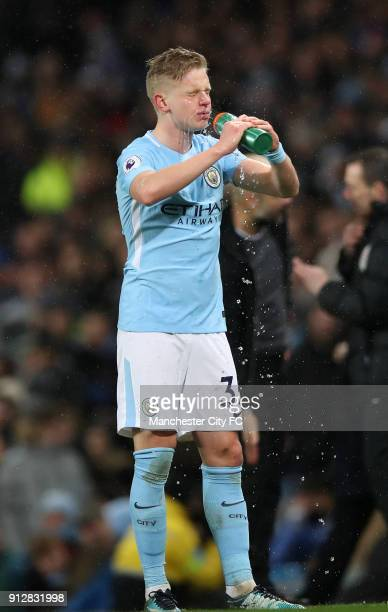 Oleksandr Zinchenko of Manchester City during the Premier League match between Manchester City and West Bromwich Albion at Etihad Stadium on January...