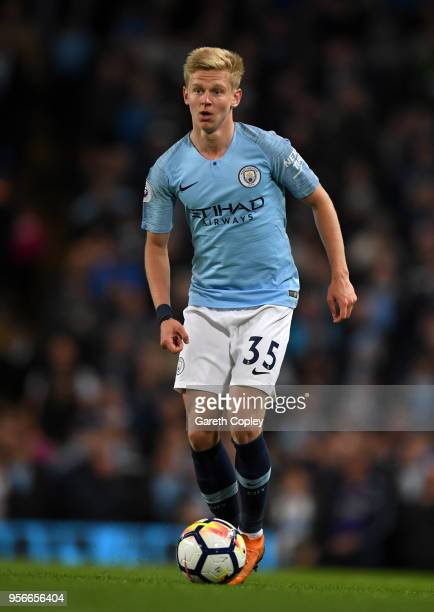 Oleksandr Zinchenko of Manchester City during the Premier League match between Manchester City and Brighton and Hove Albion at Etihad Stadium on May...