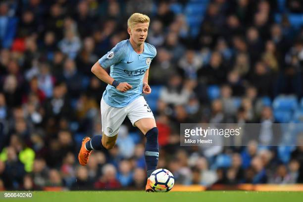 Oleksandr Zinchenko of Manchester City in action during the Premier League match between Manchester City and Brighton and Hove Albion at Etihad...