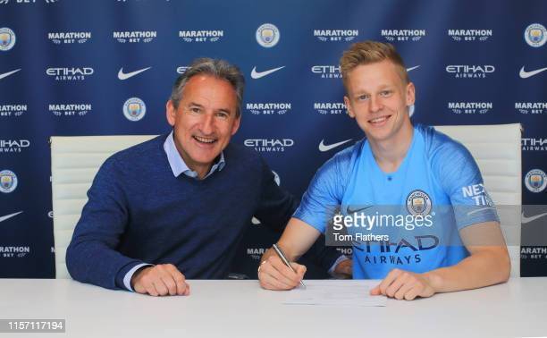 Oleksandr Zinchenko Signs a Contract Extension at Manchester City at Manchester City Football Academy on June 20 2019 in Manchester England