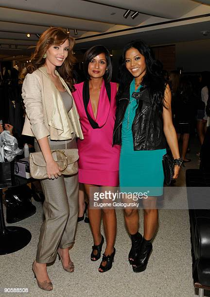 Oleksandra NikolayenkoRuffin Roopal Patel and Amerie attend the launch of The Roopal Patel Collection by Le Metier de Beaute at Bergdorf Goodman on...