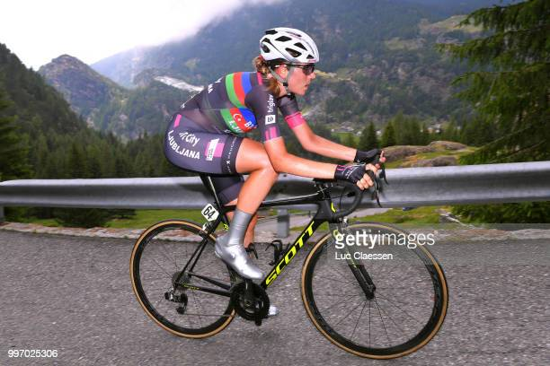Olena Pavlukhina of Azerbaijan and Team BTC City Ljubljana / during the 29th Tour of Italy 2018 - Women, Stage 7 a 15km Individual time trial stage...