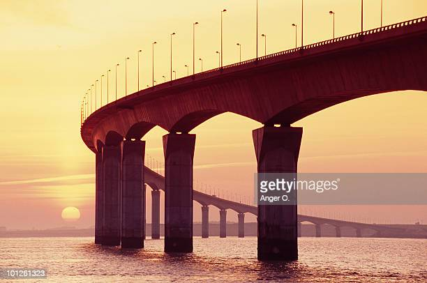 Oleron bridge at sunset, Ile de Re, France