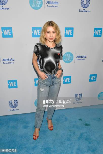 Olesya Rulin attends WE Day California at The Forum on April 19 2018 in Inglewood California