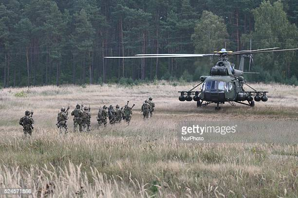 Oleszno Poland 9th September 2014 Nobel Sword14 NATO international special forces exercise at the land forces training centre in Oleszno 15 countries...