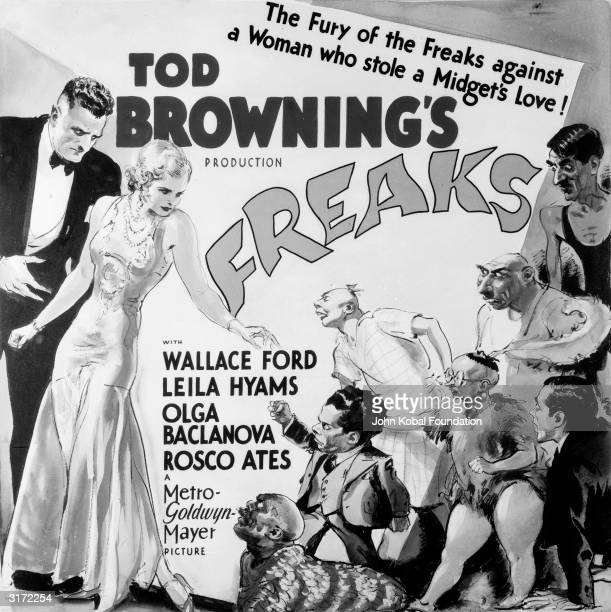 Olga Baclanova incurs the wrath of the circus sideshow performers in the film 'Freaks' directed by Tod Browning