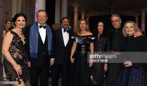 Olga Balakleets Alexander Vladimirovich Yakovenko Sir Rocco Forte Lady Aliai Katya Zemtsova Jeremy Irons and Sinéad Cusack attend the Russian Ballet...