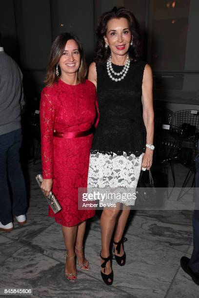 Olga Barrientos and Fe Fendi attends the Carolina Herrera show at The Museum of Modern Art on September 11 2017 in New York City