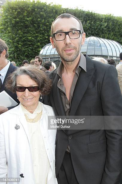 Olga Berluti and Alessandro Sartori attend the private dinner during the Berluti Menswear Spring/Summer 2013 show as part of Paris Fashion Week at...