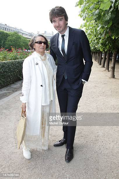 Olga Berluti and Antoine Arnault attend the private dinner during the Berluti Menswear Spring/Summer 2013 show as part of Paris Fashion Week at...