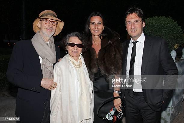 Olga Berluti, Elisabetta Beccari and Pietro Beccari attend the private dinner during the Berluti Menswear Spring/Summer 2013 show as part of Paris...