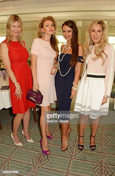 Olga Betsirovits Alexandra Shishlova Alina Blinova and Alexa De Pyffer attend a lunch hosted by Tamara Beckwith and Alessandra Vicedomini to...