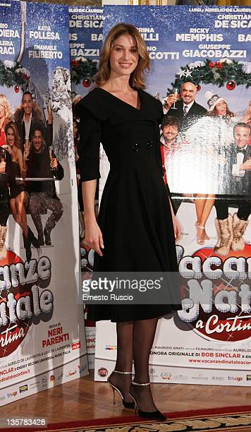 "Olga Calpajiu attends the ""Vacanze Di Natale A Cortina"" photocall at St Regis Hotel on December 14, 2011 in Rome, Italy."