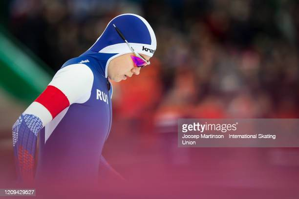 Olga Fatkulina of Russia competes in the 2nd Ladies 500m Sprint during the Combined ISU World Sprint World Allround Speed Skating Championships at...