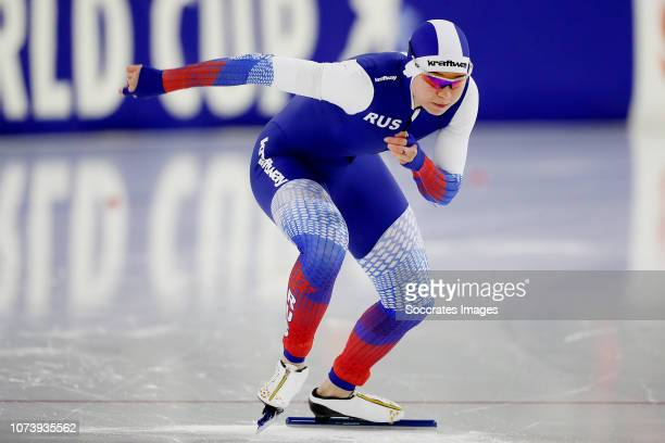 Olga Fatkulina of Russia during the 500m during the ISU World Cup 4 at the Thialf Stadium on December 15 2018 in Heerenveen Netherlands