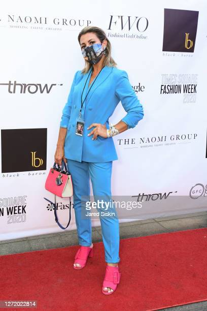 Olga Ferrara attends Times Square Fashion Week by DCG Group Media and Fashion Mingle at Father Duffy Square on September 8, 2020 in New York City.