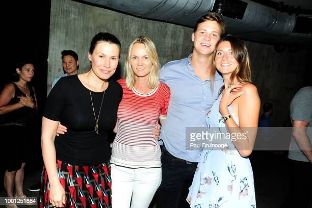 Olga Filippova and Lise Evans attend Lionsgate With The Cinema Society Host The After Party For Blindspotting at Public Arts at Public on July 16...