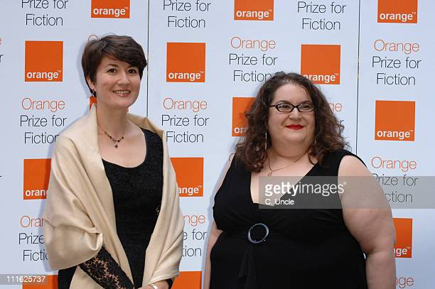 Olga Grushin and Naomi Alderman during 2006 Orange Prize for Fiction at Royal Courts of Justice in London Great Britain